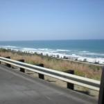 "RV""s parked  along beach on Pacific highway Ventura Beach."