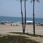 LA beach busy.