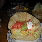 Panchos Mexican Tostada. Too big serve